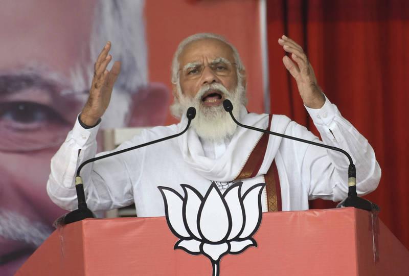 印度總理莫迪在5月爆發印中衝突後,近期的國際會議上屢次砲轟中國。(美聯社)