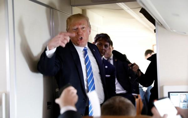 近來白宮內部資訊頻流出,川普氣炸誓言揪出內鬼。(路透)