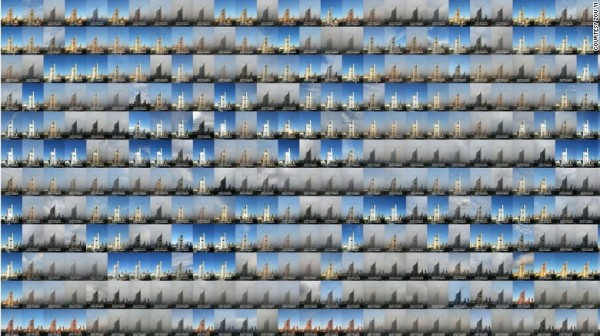 鄒毅拍的2015年北京每日照片組圖。(圖擷自CNN)