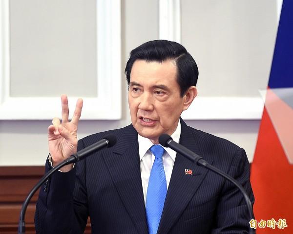 總統馬英九就職七周年,20日在總統府發表演說。(記者方賓照攝)