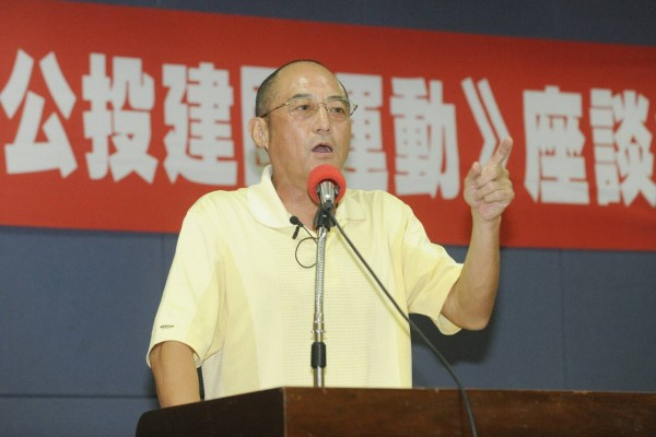 袁紅冰針對台灣如何建立台灣共和國等主題進行演講與討論。(記者陳志曲攝)
