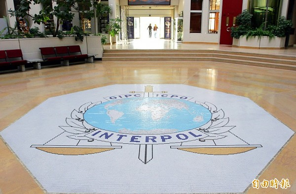 This Oct.16, 2007 file photo shows the entrance hall of Interpol`s headquarters in Lyon, central France. Photo: AP