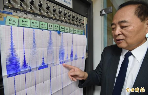昨晚花蓮發生規模6的強震,前氣象局地震測報中心主任郭鎧紋今天表示,2017年地震很少只釋放半顆原子彈能量,加上今年規模5.8和規模6的地震,等於去年到目前為止只釋放了1.7顆原子彈,還剩下14.3顆原子彈能量並未釋放。(資料照)