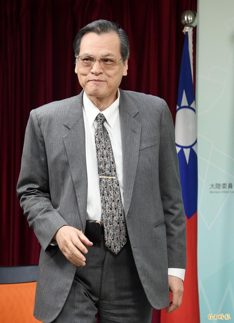 陸委會主委陳明通。(資料照)