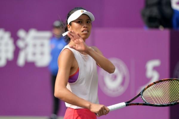 謝淑薇打法獲《紐約時報》封為「網球藝術家」。(法新社)