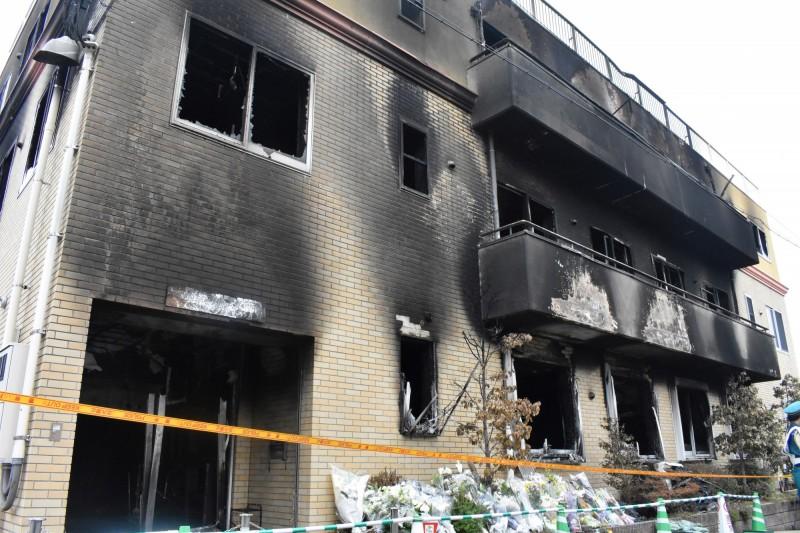 造成34死34輕重傷的京都動畫縱火案,今京都消防局公布現場勘災報告。(歐新社)