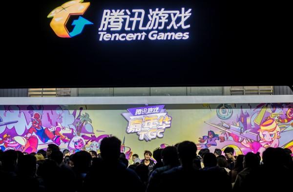 日本遊戲大廠史克威爾艾尼克斯於8月30日宣布將與中國騰訊成立合資公司。圖為騰訊年度例行的遊戲嘉年華。(路透)