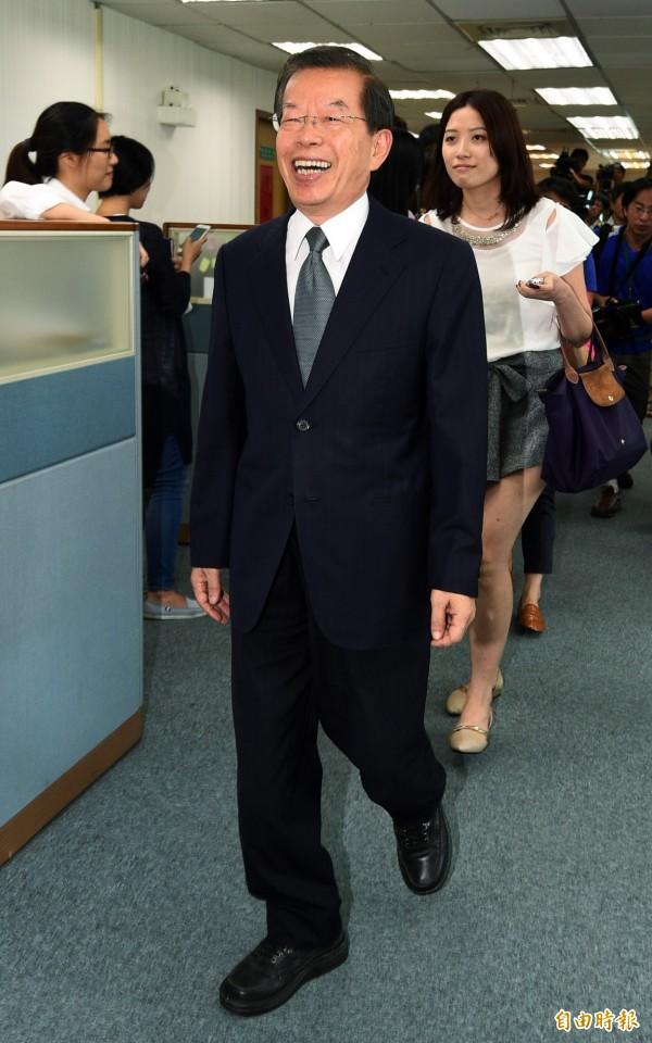 謝長廷在1996年曾因配選副總統,辭去立委職務。(資料照,記者羅沛德攝)