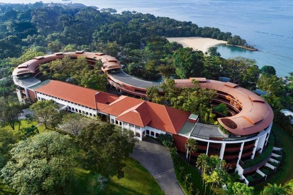 川金會地點將訂於12日,新加坡南部島嶼聖淘沙的中心,嘉佩樂酒店召開。(美聯社)