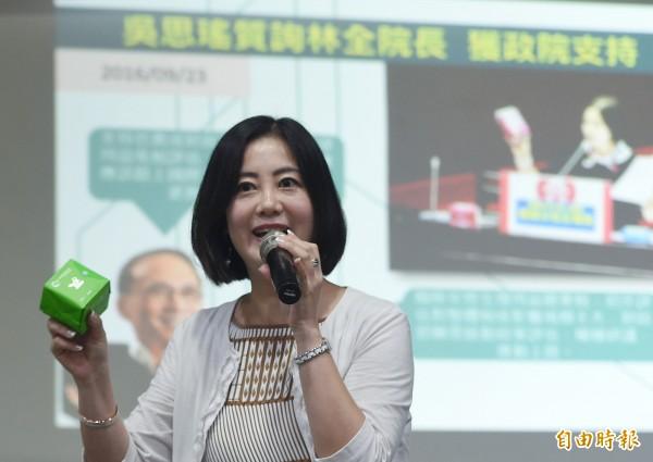 新系立委吳思瑤將接任民進黨發言人。(資料照,記者廖振輝攝)