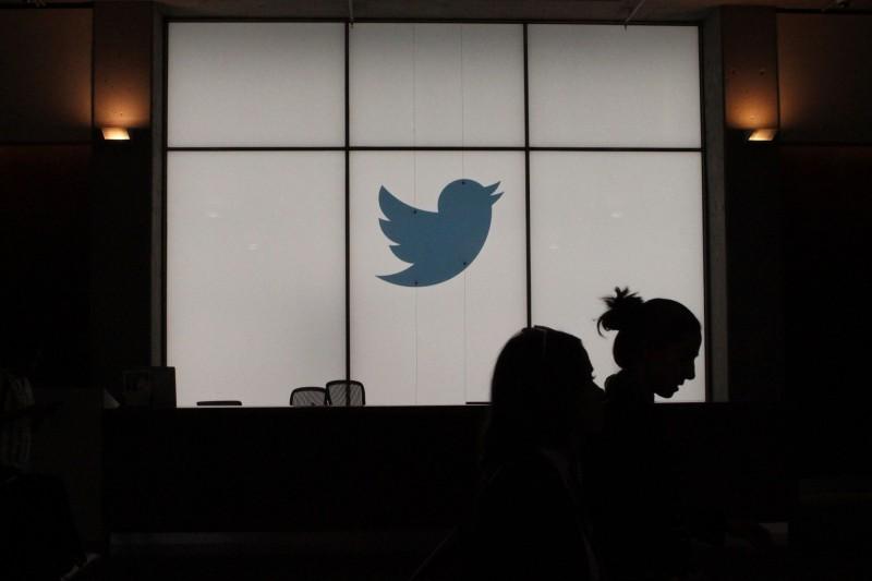 中國政府採購網8月16日公告,兩家公司分別取得標案要為「中國新聞社」的推特粉絲頁與臉書粉絲專頁大舉增加粉絲。圖為推特在美國舊金山總部的一景。(法新社)