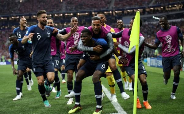 法國隊奪下2018年世足賽冠軍。(路透)