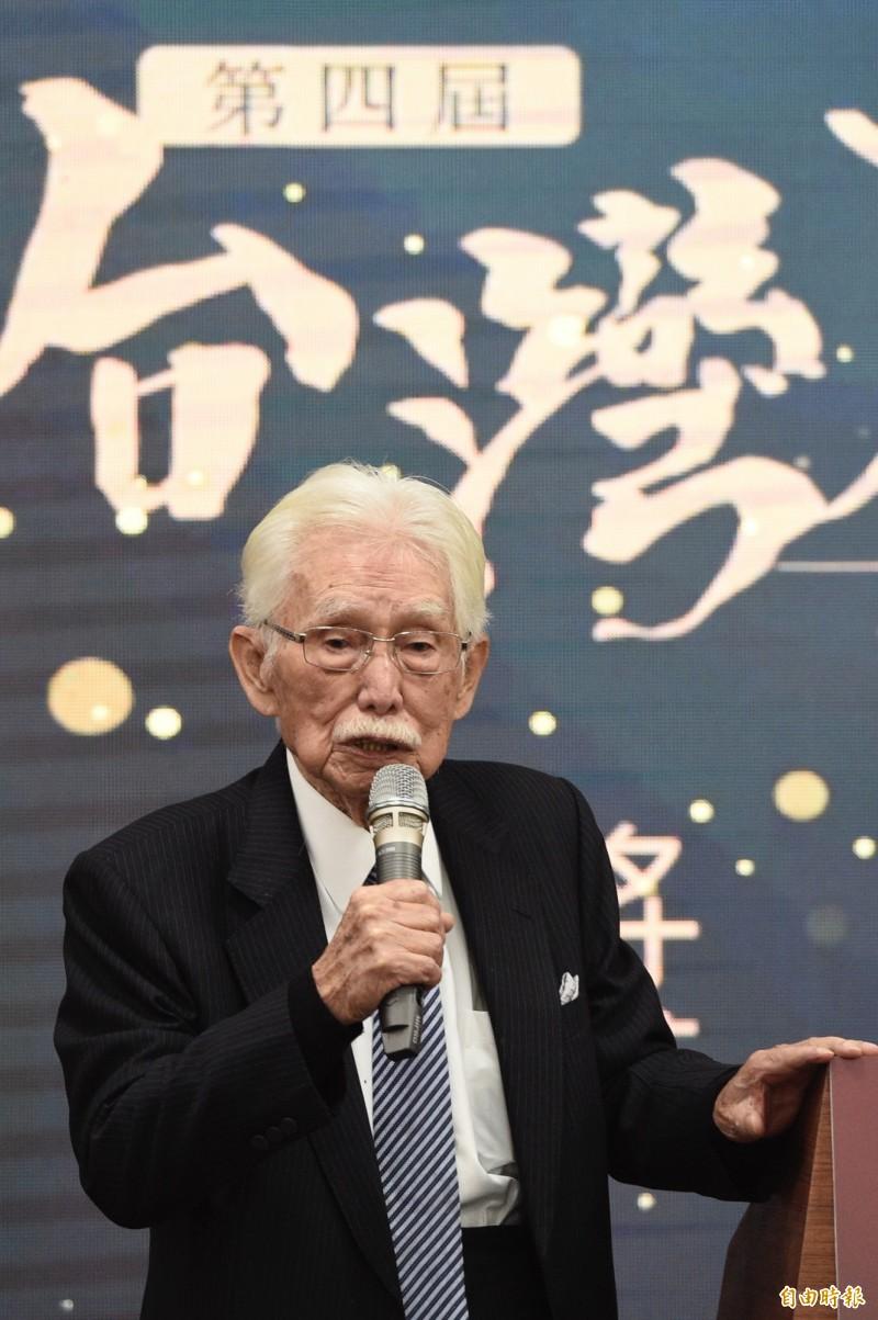 台灣制憲基金會董事長辜寬敏。(資料照)