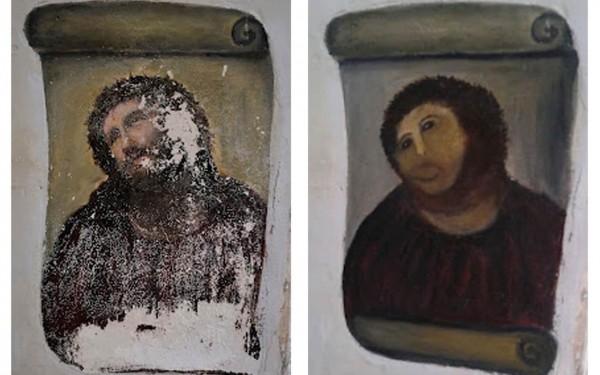 過去西班牙就有耶穌畫像被修復失敗的慘痛教訓。(路透)