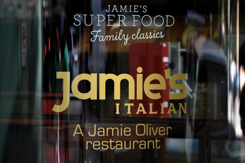 英國名廚傑米·奧利佛於2008年創立的義大利連鎖餐廳「Jamie's Italian」今(21)日遭接管。(歐新社)
