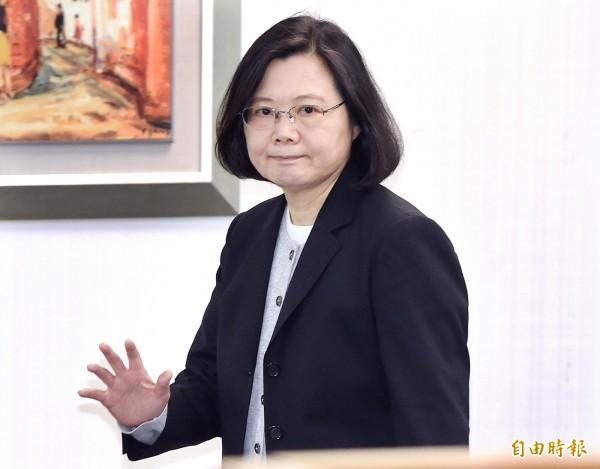 總統兼民進黨主席蔡英文今天(14日)出席主持民進黨中執會。(記者廖振輝攝)