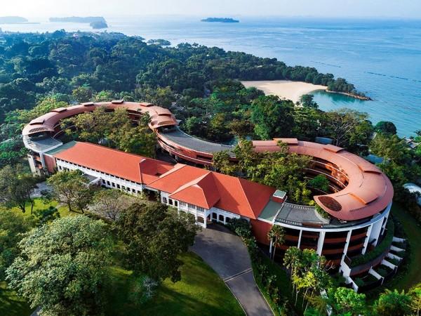川金會將在新加坡聖淘沙島的嘉佩樂酒店舉行。(路透)