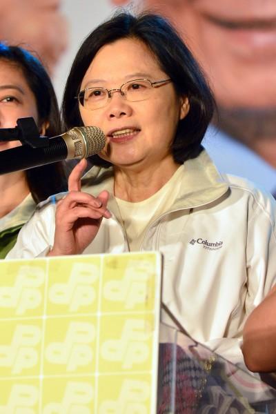蔡英文表示,頂新悖離企業應有的社會責任,才會引起台灣社會的公憤。(資料照,記者王藝菘攝)