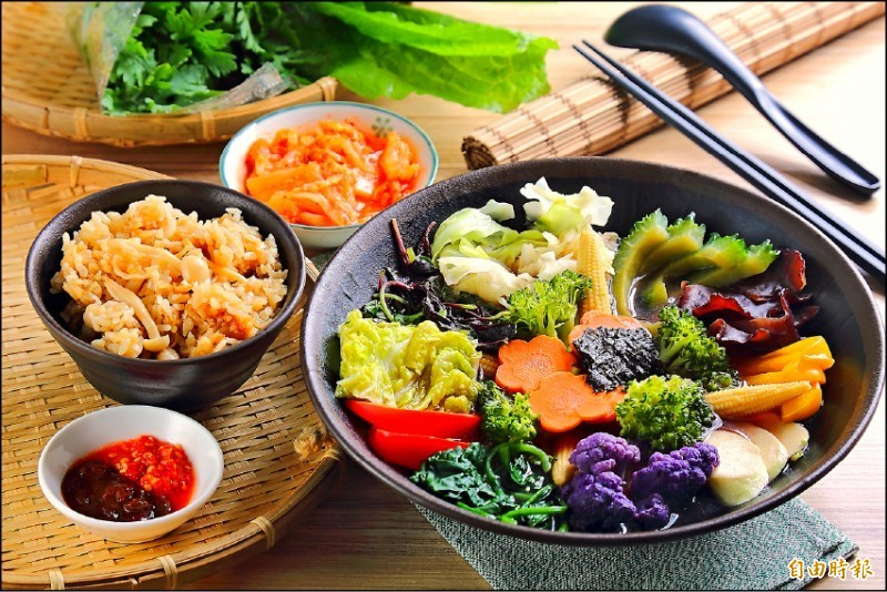 國健署認為,低碳飲食法不會造成營養不良,反而有益於地球發展。蔬食示意圖。(資料照)