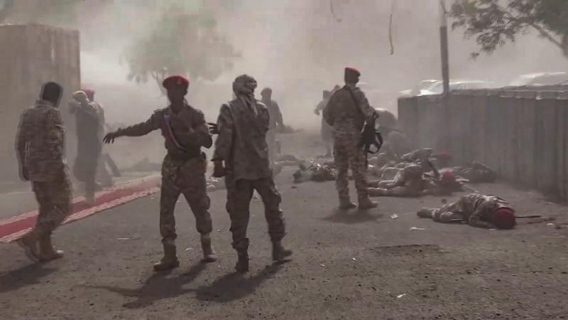 葉門閱兵典禮遭到反政府武裝組織胡塞襲擊,釀成至少32死的慘劇。(法新社)