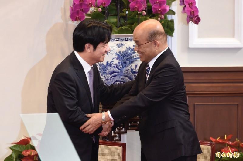 行政院長蘇貞昌(右)與賴清德有多年的交情。(資料照)