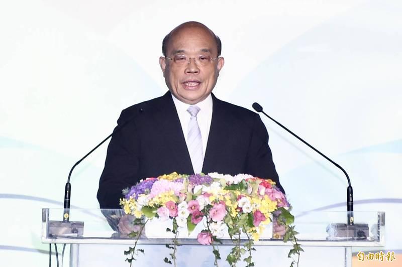 行政院長蘇貞昌出席師鐸獎頒獎典禮。(記者塗建榮攝)