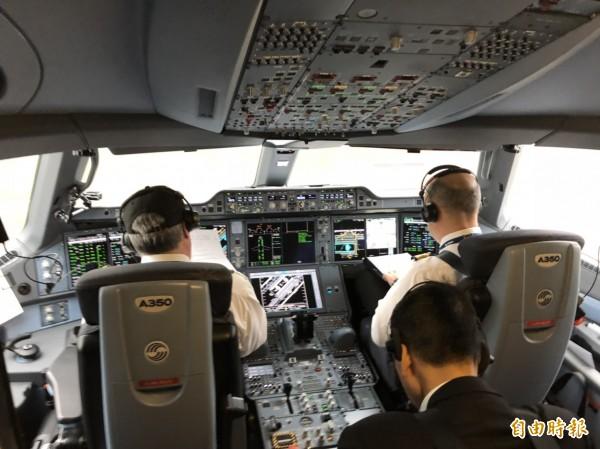 飛機駕駛艙。示意圖與新聞無關。(資料照)