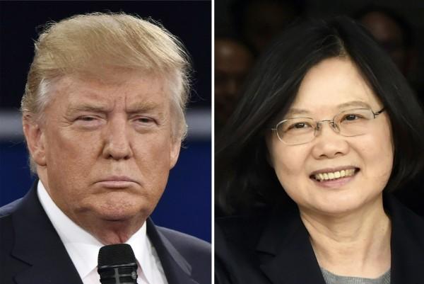 美國智庫研究報告認為,中國武統台灣能力題歌,預期美軍訪台層級也將顯著提升。圖左為美國總統川普、圖右為台灣總統蔡英文。(資料圖 法新社)