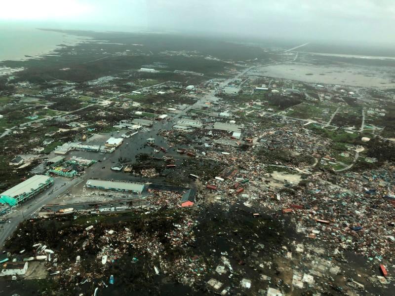 巴哈馬釀慘重災情。(彭博)