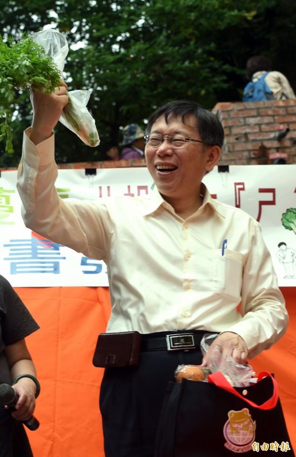 台北市長柯文哲上任即將滿百日,根據媒體民調調查,超過7成5的台北市民對柯文哲施政感到滿意。(資料照,記者王敏為攝)