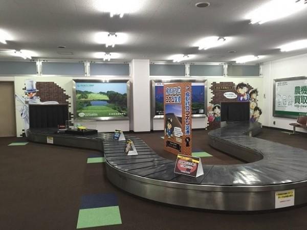 柯南機場內有許多柯南動漫元素的擺設。(圖擷取自Natalie)