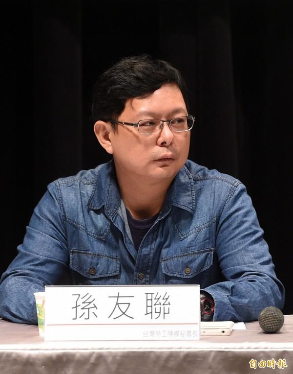 華航空服員發動罷工,台灣勞工陣線秘書長孫友聯表示,帶給台灣工會運動和反過勞有很大的鼓舞。(資料照,記者王敏為攝)