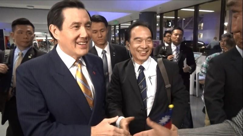 前總統馬英九(左)與頂霖集團總裁林健昌(右)交情匪淺。(中央社資料照)