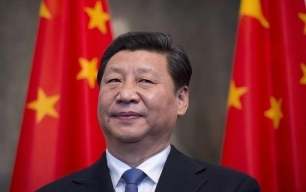 中國人大會議今(17)上午召開,習近平以2970票全票通過連任國家主席。(美聯社)