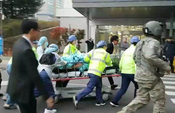 北韓軍人叛逃南韓,過程中被北韓同僚掃射40餘發子彈。(歐新社)