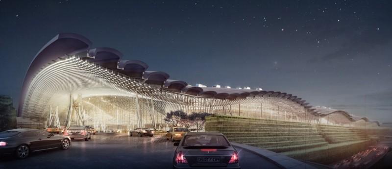 桃園國際機場第三航廈由英國團隊設計,講求流線型設計,建築外形猶如一隻飛鳥。(翻攝自桃機公司網頁)