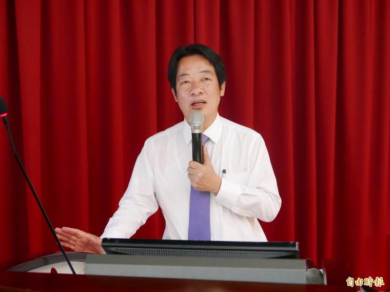 賴清德今接受廣播訪問指出,韓國瑜還沒足夠時間證明他可以做好一位市長,「若連市長都沒獲得市民支持,更遑論總統。」(資料照)
