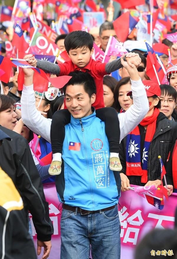 蔣萬安憑著清新形象與律師專業被網友選為「10大人氣新科立委」第5名,也是榜中唯二的國民黨立委。(資料照,記者張嘉明攝)