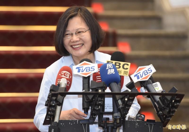 蔡英文總統今日接見「中華民國一貫道總會」,希望未來能夠持續透過政府和宗教的合作,共創一個溫馨祥和的社會。(資料照,記者劉信德攝)