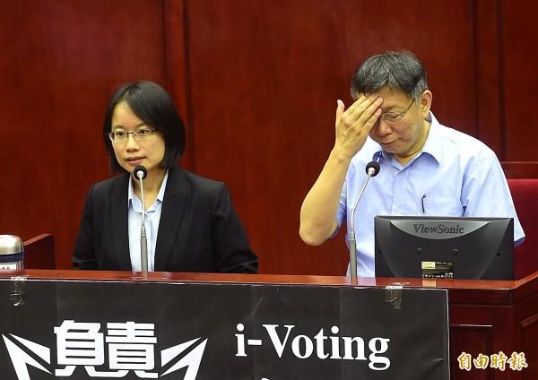 台北農產公司總經理吳音寧爭議不斷,對此,柯文哲今早受訪時表示,吳音寧的問題不解決,民進黨會一直流血,這實在很困擾。(資料照)