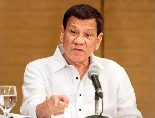 菲國總統杜特蒂。(法新社檔案照)