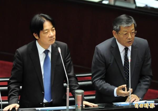 立法院院會,行政院院長賴清德(左)、外交部次長謝武樵(右)備詢。(記者王藝菘攝)
