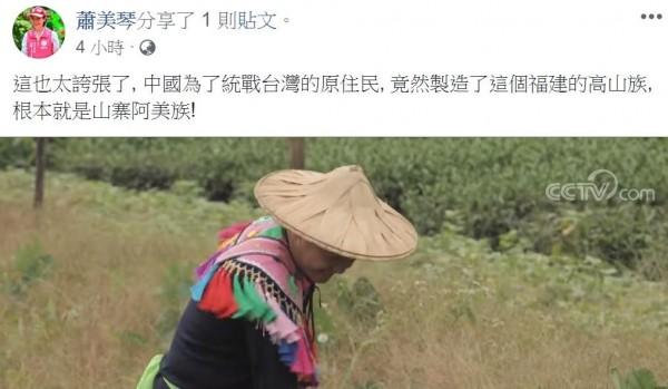 影片中原住民都穿著類似阿美族的傳統服裝,讓蕭美琴痛批「太誇張了!」(圖擷自臉書)
