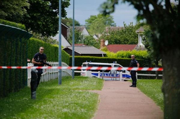 事發後現場已被警方拉起封鎖線。(法新社)