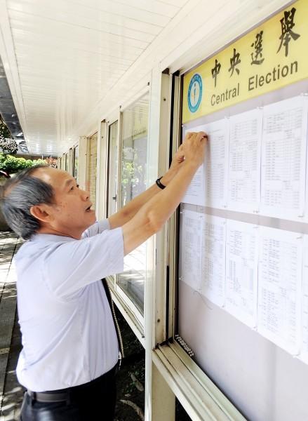 中選會代理主委劉義周21日發布103年地方公職人員選舉公告。(記者朱沛雄攝)