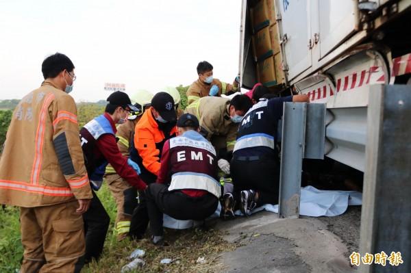 陸乙豪駕駛的大貨車闖禍,造成3死。(資料照)