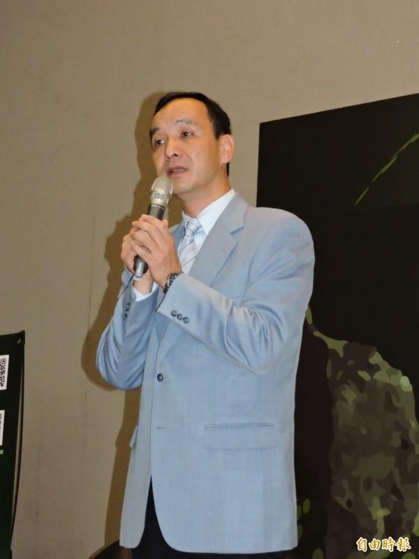新北市長朱立倫表示,市府透過綠建築、綠色能源、綠色交通等面相推動節能減碳。(記者賴筱桐攝)