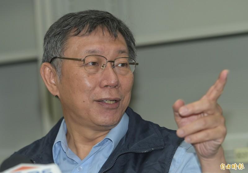 台北市長柯文哲日前創黨,不僅黨名與台灣民主先驅蔣渭水創立的「台灣民眾黨」相同,柯文哲還表示,希望繼承蔣渭水職志。(記者張嘉明攝)