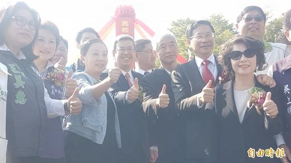 副總統陳建仁參加嘉義市區鐵路高架化先期動土儀式。(記者丁偉杰攝)