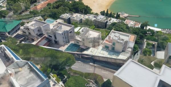 習近平家族在香港淺水灣的獨立別墅逍遙居豪宅曝光。(圖擷取自Google地圖)